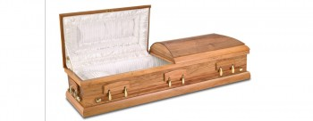 Blackwood Dome casket with half couch lid
