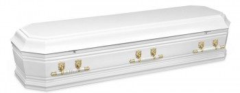Grecian Urn White casket for Italian funerals