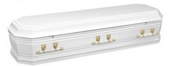 Grecian Urn White casket for Italian funerals