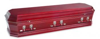 Grecian Urn flinders Rosewood casket for Italian funerals