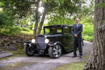 Hot Rod Hearse Hire Oakdale Funerals Melbourne with David Allison