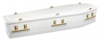 Norwood White painted coffins & caskets