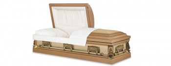 Dome casket with half couch lid