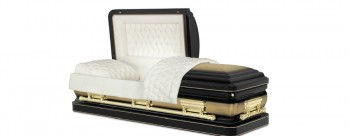 Regency Gold melba deluxe metal Dome casket with half couch lid