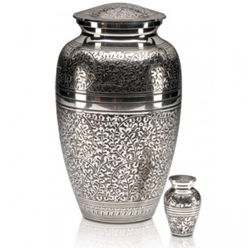 Classic silver Cremation Urn and Keepsake