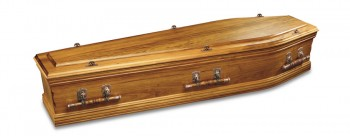 Blackwood solid timber with single raised lid coffins & caskets